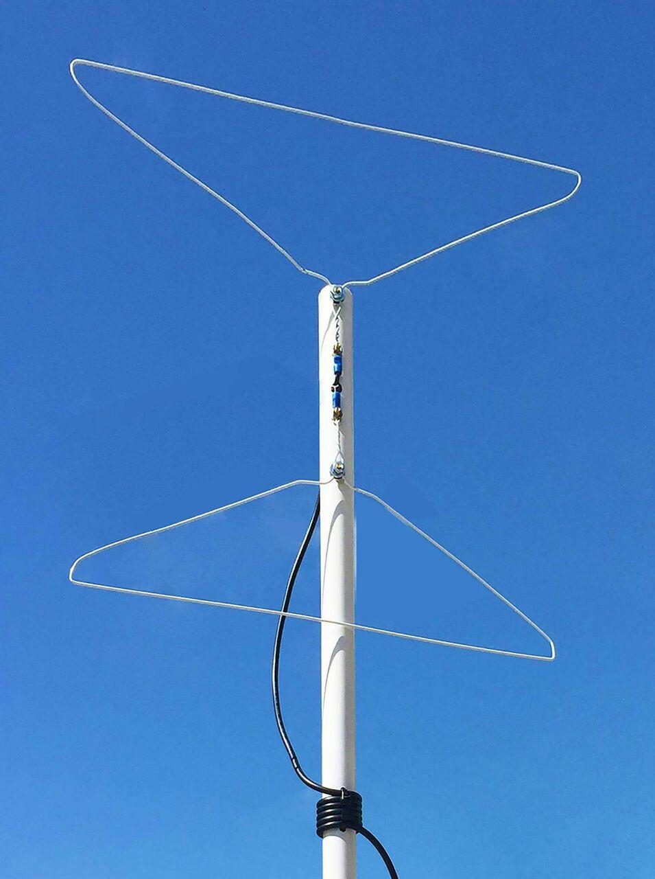 Antena con ganchos