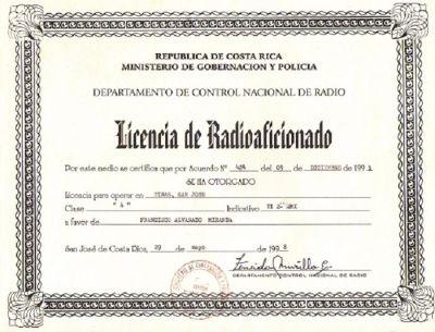 Licencia TE